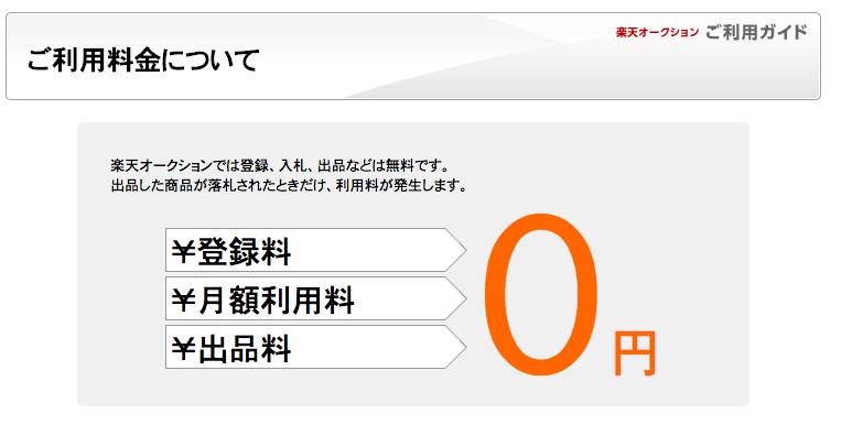 楽天オークションゼロ円