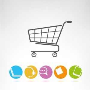 23356134 - shopping cart, e commerce buttons