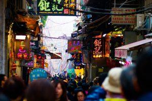 49907413 - macau town scene,china